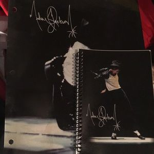 Michael Jackson Notebook and Folder. Never Used